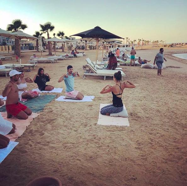 teaching on the beach