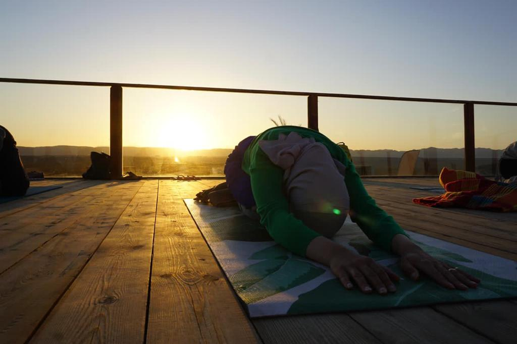 Sunset yoga in El Gouna Egypt